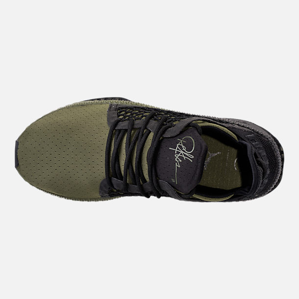 Top view of Men's Puma x Young & Reckless Tsugi Netfit Casual Shoes in Black/Forest Green