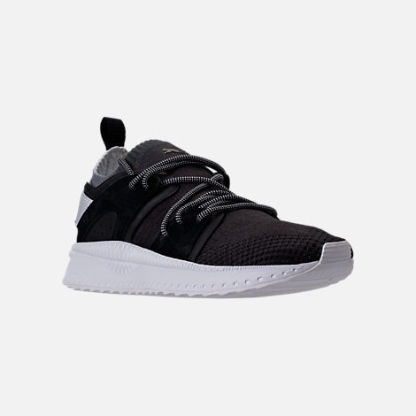 Three Quarter view of Men's Puma x Blvck Scvle Tsugi Blaze of Glory Knit Casual Shoes in Black/White/Grey