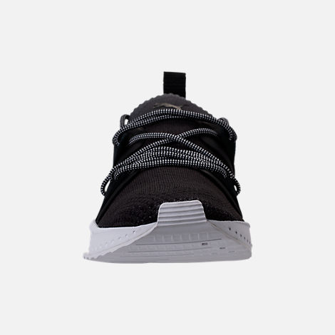 Front view of Men's Puma x Blvck Scvle Tsugi Blaze of Glory Knit Casual Shoes in Black/White/Grey