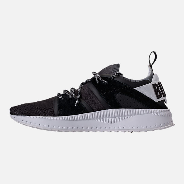 Left view of Men's Puma x Blvck Scvle Tsugi Blaze of Glory Knit Casual Shoes in Black/White/Grey