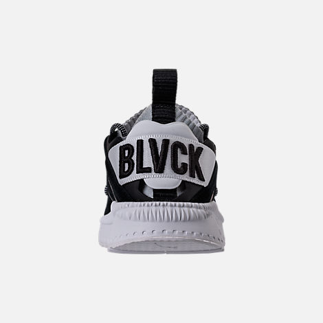 Back view of Men's Puma x Blvck Scvle Tsugi Blaze of Glory Knit Casual Shoes in Black/White/Grey