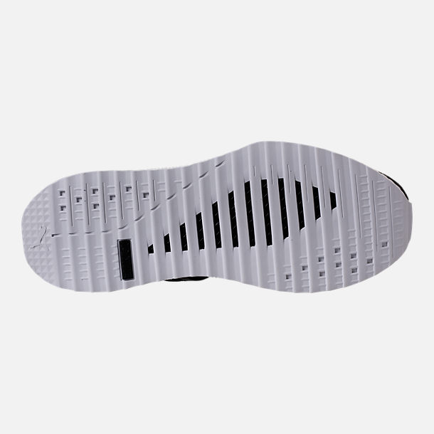 Bottom view of Men's Puma x Blvck Scvle Tsugi Blaze of Glory Knit Casual Shoes in Black/White/Grey