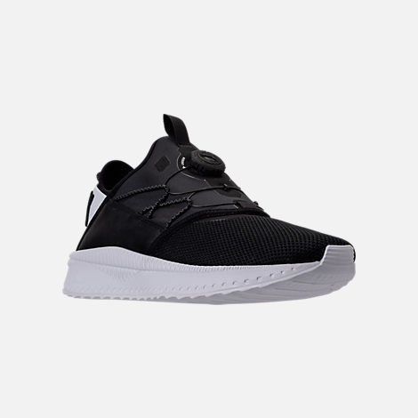 Three Quarter view of Men's Puma x Blvck Scvle Tsugi Disc Casual Shoes in Black/White