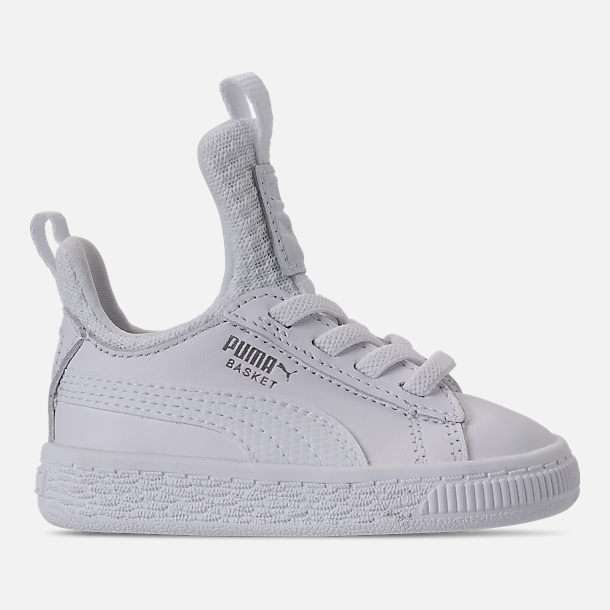 Right view of Girls' Toddler Puma Basket Fierce Casual Shoes in Pearl/Puma White
