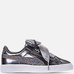 Girls' Preschool Puma Basket Heart LunaLux Casual Shoes