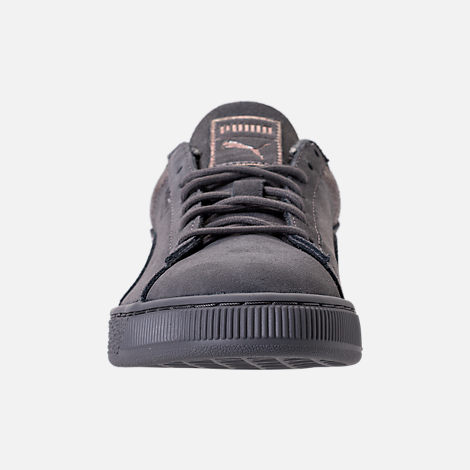 Front view of Women's Puma Suede LunaLux Casual Shoes in Smoke Pearl