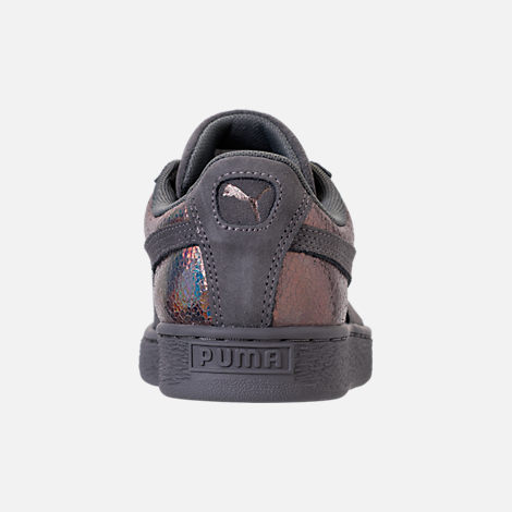 Back view of Women's Puma Suede LunaLux Casual Shoes in Smoke Pearl