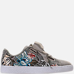 Women's Puma Basket Heart Hyper Emboss Casual Shoes