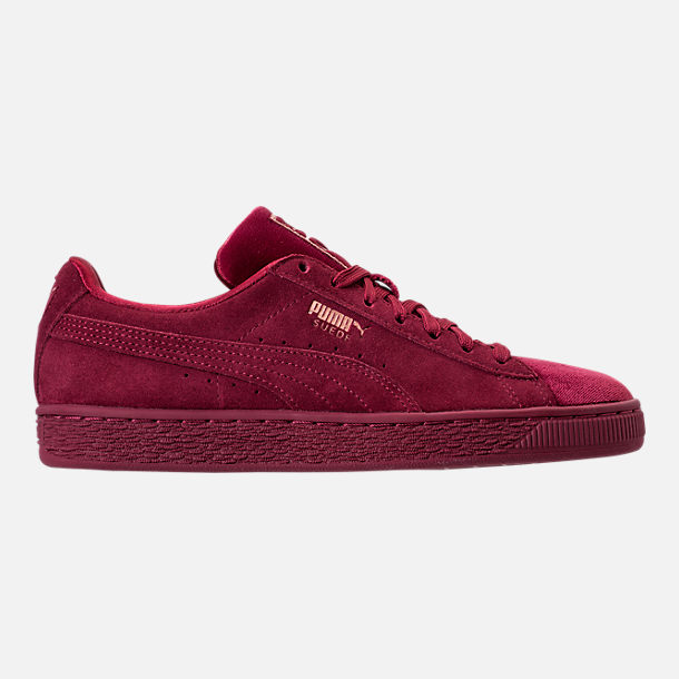 Right view of Women's Puma Suede Classic Velvet Casual Shoes in Cordovan