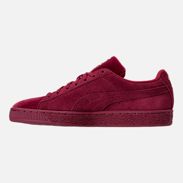 Left view of Women's Puma Suede Classic Velvet Casual Shoes in Cordovan