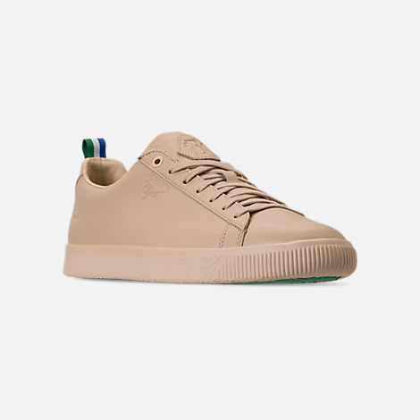 Three Quarter view of Men's Puma Clyde x Big Sean Casual Shoes in Tan