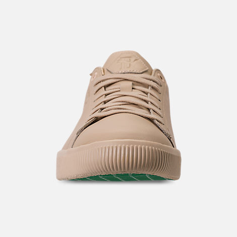 Front view of Men's Puma Clyde x Big Sean Casual Shoes in Tan