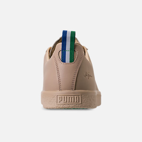 Back view of Men's Puma Clyde x Big Sean Casual Shoes in Tan