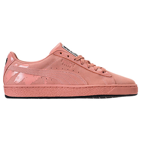 X Mac Women'S Classic Suede & Patent Leather Lace Up Sneakers, Pink