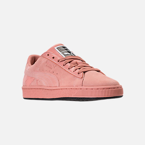 Three Quarter view of Women's Puma Suede Classic x Mac One Casual Shoes in Muted Clay/Muted Clay