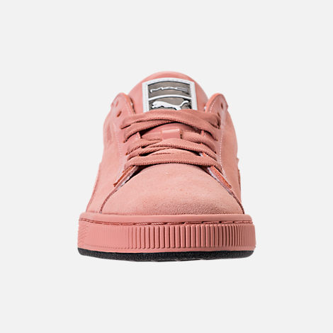Front view of Women's Puma Suede Classic x Mac One Casual Shoes in Muted Clay/Muted Clay