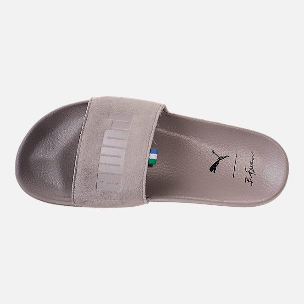c689ba94e2a0 Top view of Men s Puma x Big Sean Leadcat Slide Sandals in Ash