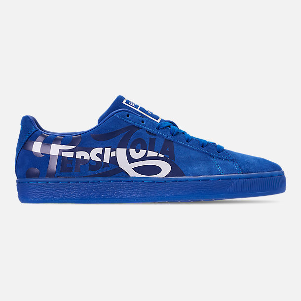 Right view of Men's Puma Suede Classic x Pepsi Casual Shoes in Clean Blue/Puma Silver