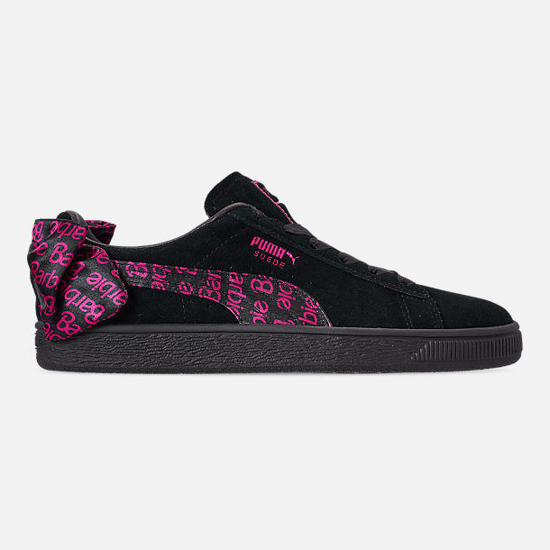 49065842ba3 Right view of Women s Puma x Barbie Suede Classic Casual Shoes in Puma Black