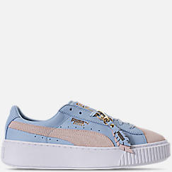 Women's Puma Basket Platform Coach Casual Shoes