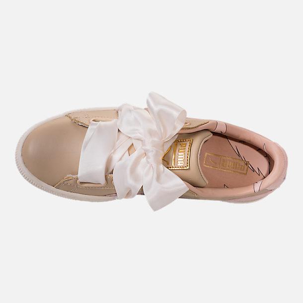 newest 46d85 788ac Women's Puma Basket Heart Coach Casual Shoes