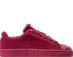 Girls' Grade School Puma Basket Classic Velour Casual Shoes