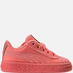Girls' Toddler Puma Basket Classic Velour Casual Shoes