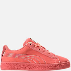 Girls' Preschool Puma Basket Classic Velour Casual Shoes