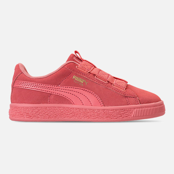 Right view of Girls' Little Kids' Puma Suede Maze Casual Shoes in Shell Pink