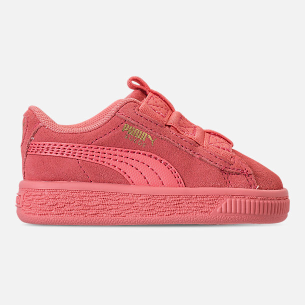 Right view of Girls' Toddler Puma Suede Maze Casual Shoes in Shell Pink