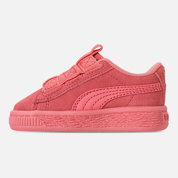 Left view of Girls' Toddler Puma Suede Maze Casual Shoes in Shell Pink