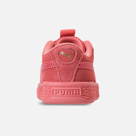 Back view of Girls' Toddler Puma Suede Maze Casual Shoes in Shell Pink