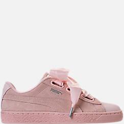 Women's Puma Suede Heart Bubble Casual Shoes