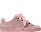 Women's Puma Suede Heart Bubble Casual Shoes by Puma