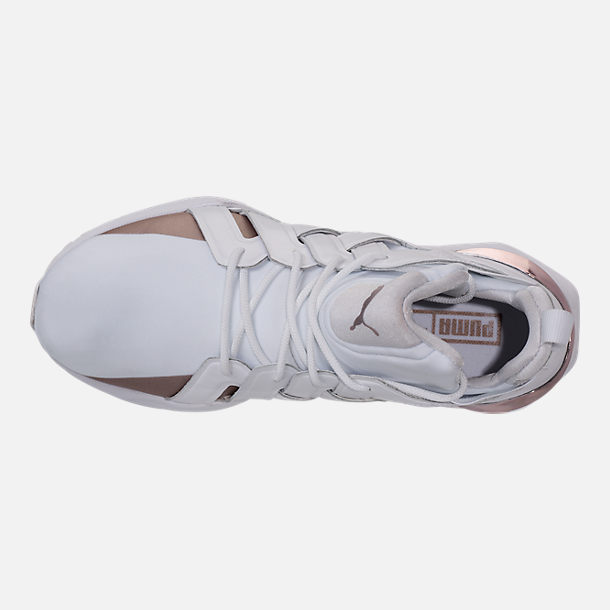 Top view of Women's Puma Muse Echo Casual Shoes in Puma White