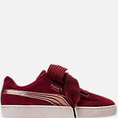 Girls' Grade School Puma Suede Heart Copper Casual Shoes
