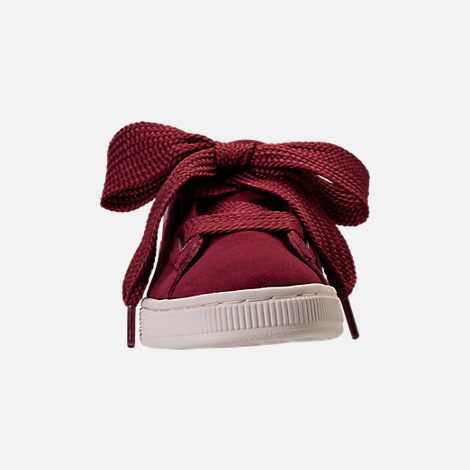 62598e8aeff2 Front view of Girls  Big Kids  Puma Suede Heart Copper Casual Shoes