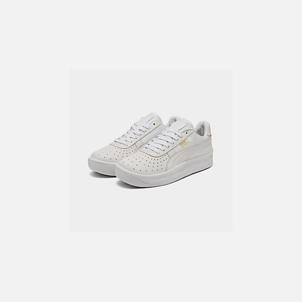 Three Quarter view of Men's Puma GV Special Plus Casual Shoes in White/White