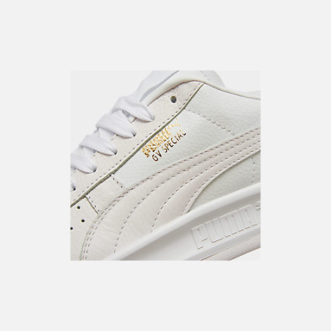 Front view of Men's Puma GV Special Plus Casual Shoes in White/White