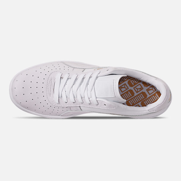 Top view of Men's Puma GV Special Plus Casual Shoes in White/White