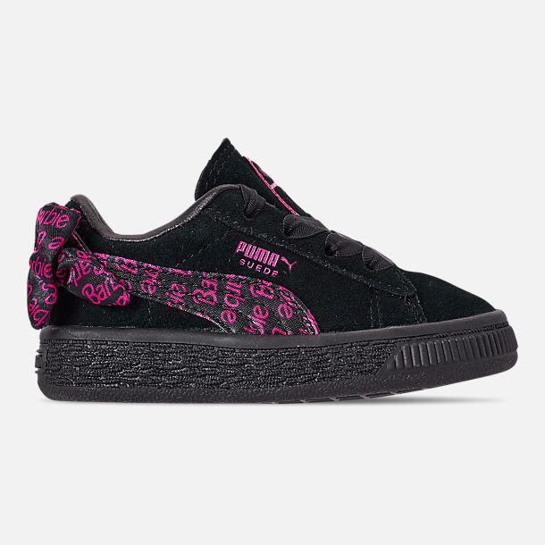 Right view of Girls' Toddler Puma x Barbie Suede Classic Casual Shoes in Puma Black