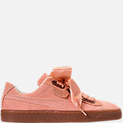 Women's Puma Basket Heart Casual Shoes