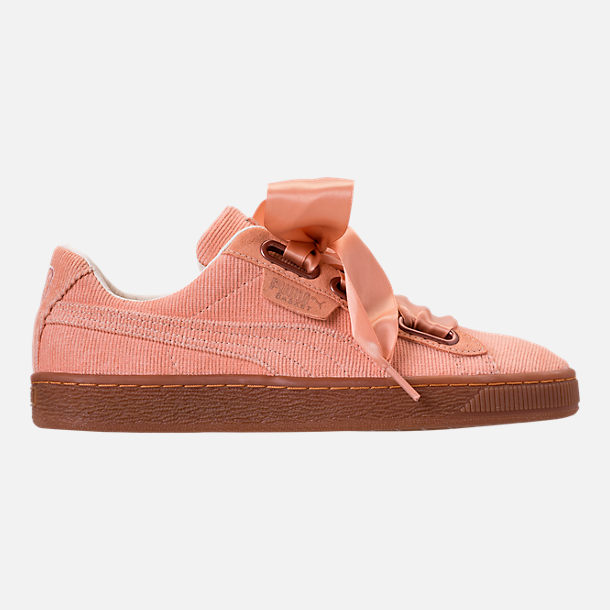 Right view of Women's Puma Basket Heart Casual Shoes in Dusty Coral/Dusty Coral