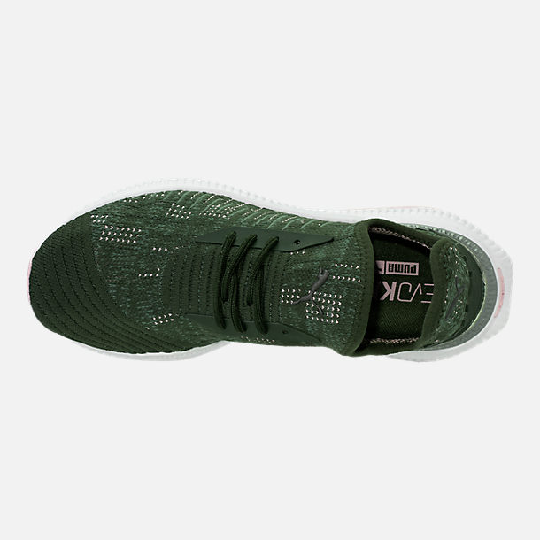 Top view of Women's Puma Avid EvoKNIT Casual Shoes in Forest Night/Laurel Wreath/Winsome