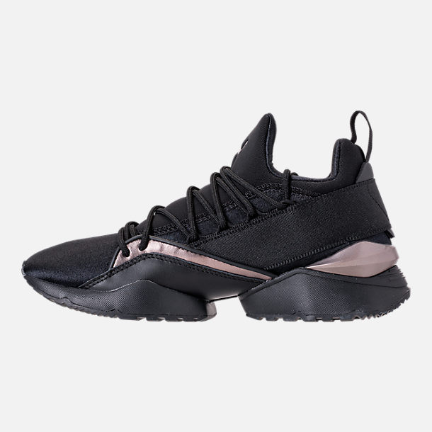 b311a1cdd32d93 Left view of Women s Puma Muse Maia Luxe Casual Shoes in Puma Black Puma  Black