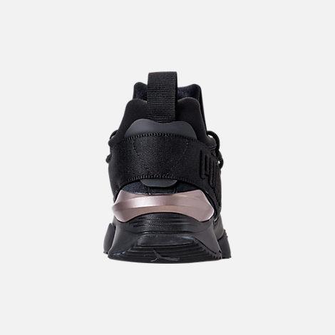 Back view of Women s Puma Muse Maia Luxe Casual Shoes in Puma Black Puma  Black bec470c9e