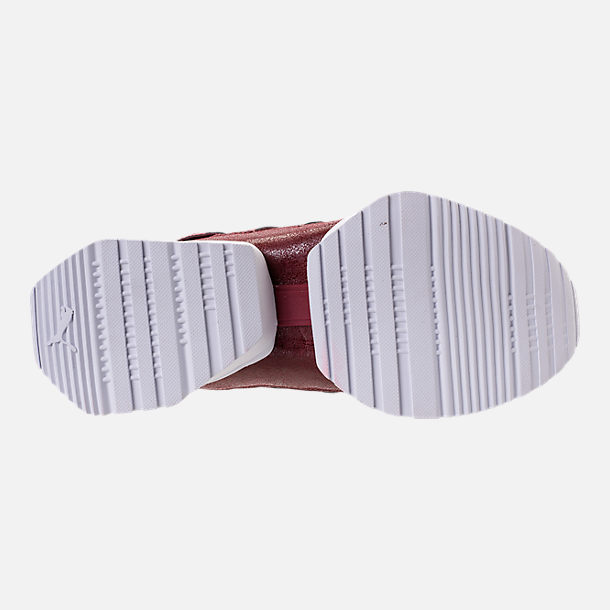 Bottom view of Women's Puma Muse Echo Casual Shoes in Pmegranate/Pomegranate