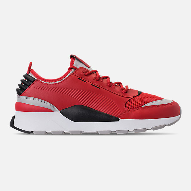 Right view of Men's Puma Evolution RS-0 Sound Casual Shoes in High Risk Red/Grey Violet/Puma Black