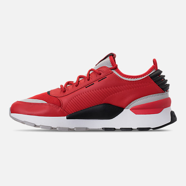 Left view of Men's Puma Evolution RS-0 Sound Casual Shoes in High Risk Red/Grey Violet/Puma Black