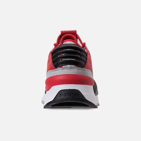 Back view of Men's Puma Evolution RS-0 Sound Casual Shoes in High Risk Red/Grey Violet/Puma Black